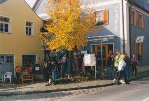 Das ehemalige Marktcafé Zeitler auf dem Ammerndorfer Herbstmarkt